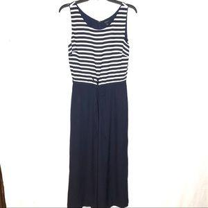 Talbots jumper Capri length size 6 blue &white